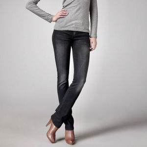Citizens of Humanity Ava Straight Jeans Black Fade